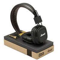 Wired MP3/MP4 Mono DHL free shipping New Studio headphone Original Marshall Major with Microphone DJ Music Headphones100% New&genuine black white brown