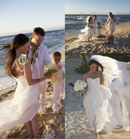 Reference Images Sweetheart Chiffon Free shipping!Megan Fox sweetheart sleeveless beach wedding dress with long train