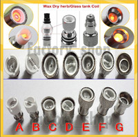 Cheap New Metal And Ceramic Coil Head Replacement Core For Ego Glass Globe Tank Vhit Wax Herbal Vaporizer Glass Dry Herb Vapor Atomizer E cig