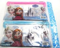 Wholesale New Popular PVC Transparent Frozen Pencil case amp pen bag amp frozen stationery Hot Kids Gift Favor