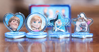 Wholesale New Arrival set Children s Toy Seal Frozen Theme Figures Seal Seal stamp And Ink Pad