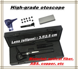 Wholesale 2014 Hot Selling High grade Medical ear fiber Optic otoscope ear endoscope ABS copper with nice gift box DHL