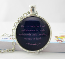 Wholesale Game of Thrones We Say to Death Not Today Syrio and Arya Stark Necklace H31