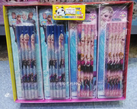 Wholesale New Sale Box pack X Frozen Elsa Anna students pencil Stationery School supplies