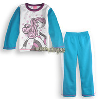 Wholesale 2014 Hot sell new Winter Long sleeve girls t shirt pants suits elegant soft and comfortable cotton fabric Warm sets s12