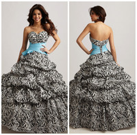 Wholesale Attractive Leopard Quinceanera Dress with Light Blue Belt Sweetheart Lace up Floor Length Masquerade Ball Gowns