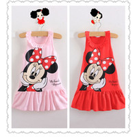 TuTu Summer A-Line Seasonal clearance 2 Colors Micky Mouse Minnie Sleeveless Cotton Dress Children Clothing Girls Kids Dress