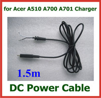 Wholesale 10pcs DC Power Supply Cable for Acer Iconia Tab A510 A700 A701 Tablet PC Charger DC Cable Around m