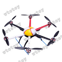 other other other Wholesale-HJ600 6-axis Multi aircraft Quad-Rotor Multi RC Heli Flyer Frame wheel UFO 12987