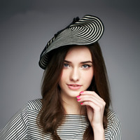 Wholesale A003 Trendy Cupid Zebra Womens Dress Fascinator Straw Hat Party Wedding Church Show