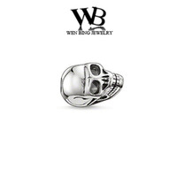 Wholesale new DIY cabochon beads Beads fit necklace bracelets silver beads new arrival skull beads for bracelet TZ027