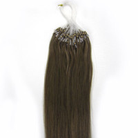 Wholesale Micro Ring Hair Extensions Perfect Long Straight Human Hair Can be Dyed and Permed More Colors for Option ST011