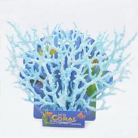 Blue artificial coral reefs - Aquarium decoration Reef Coral Decoration Ornaments New Fish Tank Faux Artificial Aquarium Accessory Blue