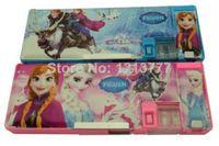 Metal plastic pencil box - High quality Frozen Children School students Plastic pencil box cartoon stationery storage pen case For girls