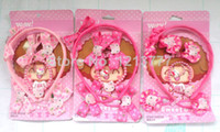 Hairbands Plastic Animal Wholesale Hairpins, bracelets, rings, hair bands, children's jewelry set Hello kitty cat