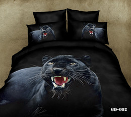 Manly black panther 3d oil painting full queen king bedding bed linens cotton fabric duvet cover flat sheet comforter bed sets 4 5pc