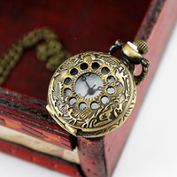 Pendant Necklaces steampunk pocket watch - Fashion Elegant New Style Steampunk Cute Fashion Jewelry Carved Pendant Pocket Watch