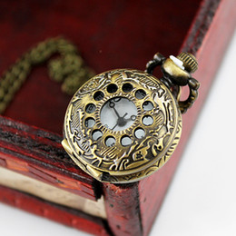 Fashion Elegant New Style Steampunk Cute Fashion Jewelry Carved Pendant Pocket Watch