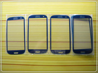 Wholesale New Blue Replacement Front Outer Lens Glass Screen For Samsung Galaxy S3 SIII I9300 I747 L710 T999 I535