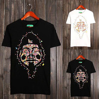 Wholesale free shinppingFlowers treasurer Seiko Buddha head printing cotton short sleeved T shirt tide brand men short sleeve T shirt street blast