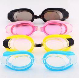 Wholesale Goggles Swim Shop With Earplugs Swimming Goggles Kids Cartoon Anti fog UVstop Watch for Swimmin HW0261