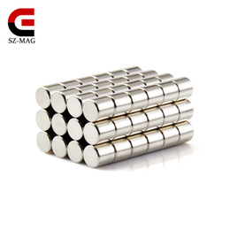 Free shipping 50pcs Strong Round Magnets Dia.6x6mm N50 Rare Earth Neodymium Disc Magnet Picture Wall