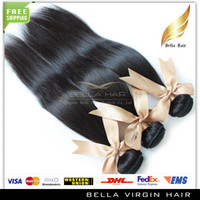 Wholesale Brazilian Peruvian Indian Malaysian European Cambodian Virgin Straight Bundle Hair Weave Human Hair Extensions Hair Weave Bella A
