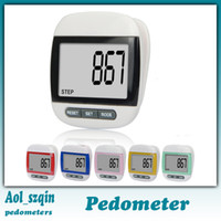 Pedometers Red  big LCD screen counter electronic digital pedometer multi function step counter calorie counter distance counter free shipping