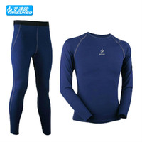 Wholesale compression tights base layer sports running Fitness cycling thermal Fleeces mens warm up clothes shirt jersey pant apparel N51B