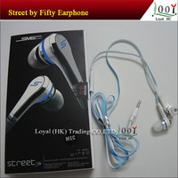 Wholesale In Ear SMS Street by Cent Street with MIC without Remote Control Earphones headphone for MP3 Player iPhone samsung phone