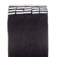 Wholesale 20 quot quot quot quot g g g g B natural black Brazilian Human Hair Extension Tape Skin wefts Hair extensions