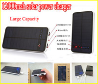 Cheap Solar Battery Charger 12000 mah Solar Power Bank 12000mah for laptop notebook mobile phone Battery pack ipad 12000ma solar battery panel usb