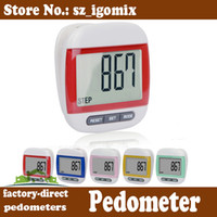 Wholesale big LCD screen step counter electronic digital pedometer multi function calorie distance counter DHL