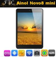 Wholesale FOriginal ainol novo8 mini pad tablet pc quot x768 pixels Android ATM7021 Dual Core GHz GB Rom sets Retail Package Fedex
