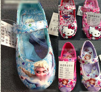 Wholesale 9 off in stock on sale Fashion Pretty yards Children s cartoon frozen elsa Anna girls shoes drop shipping hot sale pairs