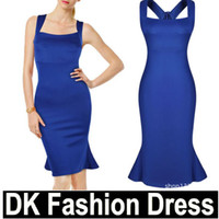 celebrity style dresses - Street Style Women Celebrity Style Sleeveless Square Collar Vestido Ladies Sexy Ruffles Blue Dresses Zipper Back Party Dress