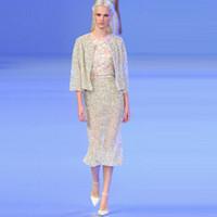 Reference Images Crew Tulle Fashion Handmade Pearl Ankle Length 3 4 Sleeve Dubai Abaya And Dubai Kaftan Evening Dresses 2013 With Wrap