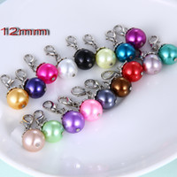 Wholesale floating pearl dangles for lockets mixed styles floating locket charms zinc alloy lobster clasp pearl pendant