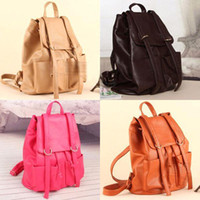 Wholesale socool2010 Girl s Faux Leather Bag Backpack School Bag Satchel Bag Unique Korean Bag FP160
