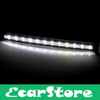 White FOR CAR 6 WATTAGES 2 White Yellow 12 LED DRL Car Auto Truck Daytime Running Turn Signal Light 5W