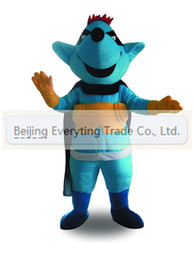 Wholesale Hot sale Adult cartoon lovely blue mouse baby mascot Costume Fancy Dress Christmas Party costume