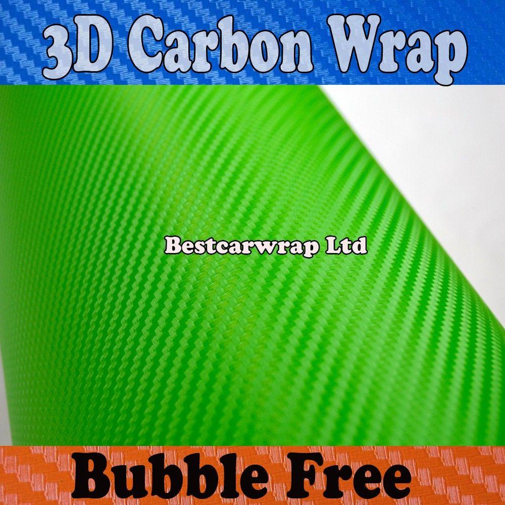 2017 Apple Green 3d Carbon Fiber Vinyl Car Wrapping Film