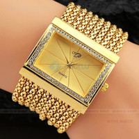 Wholesale Hot Selling Women Wrist Watches Luxury Gold Silver Color Dial Bracelet Lady Watches with Czechic Diamond Decoration Lover Gifts