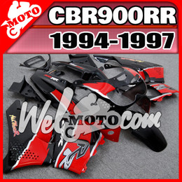 Wholesale Welmotocom Aftermarket ABS Fairings For Honda CBR RR CBR900RR CBR RR Red Black H94W22 Free Gifts
