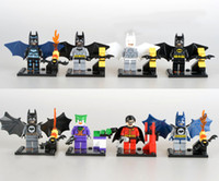 Wholesale 30sets Batman Series Robin Joker Figures Building Block Sets Minifigures Educational DIY Bricks Toys For Children