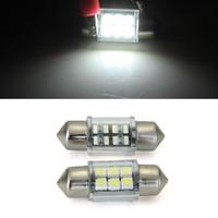 Wholesale 2 X White Dome SMD LED Car Interior Bulb Light mm