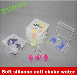 Wholesale new fashion Waterproof Pratical Soft Silicone Swimming Nose Clip Swim Ear Plug Set in Case