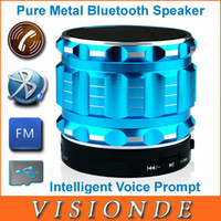 Wholesale new Portable Mini Bluetooth Speakers Metal Steel Wireless Smart Hands Free Speaker With FM Radio Support SD Card For Music Player