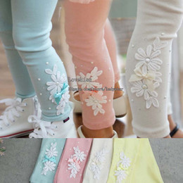Wholesale Kids Leggings Tights Child Clothing Baby Leggings Pants Children Leggings Tights Skinny Pants Kids Trouser Girls Tights Girl Clothes L33303