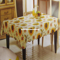 Square pvc table cloth - PVC table cloth waterproof oil resistant disposable coffee table cloth tablecloth rectangular shipping